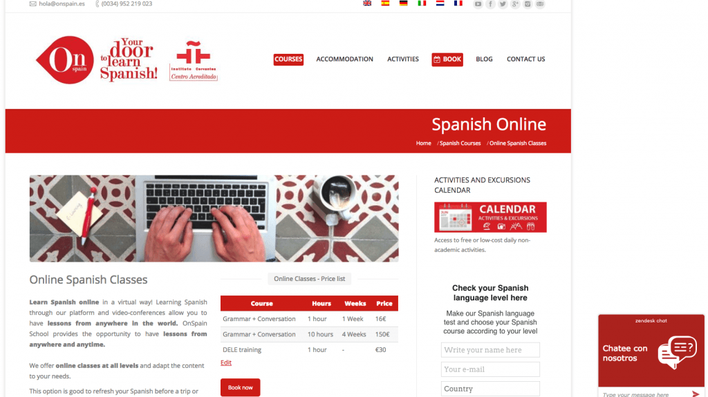 OnSpain Spanish online course